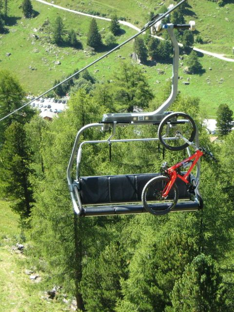 Bike on chairlift